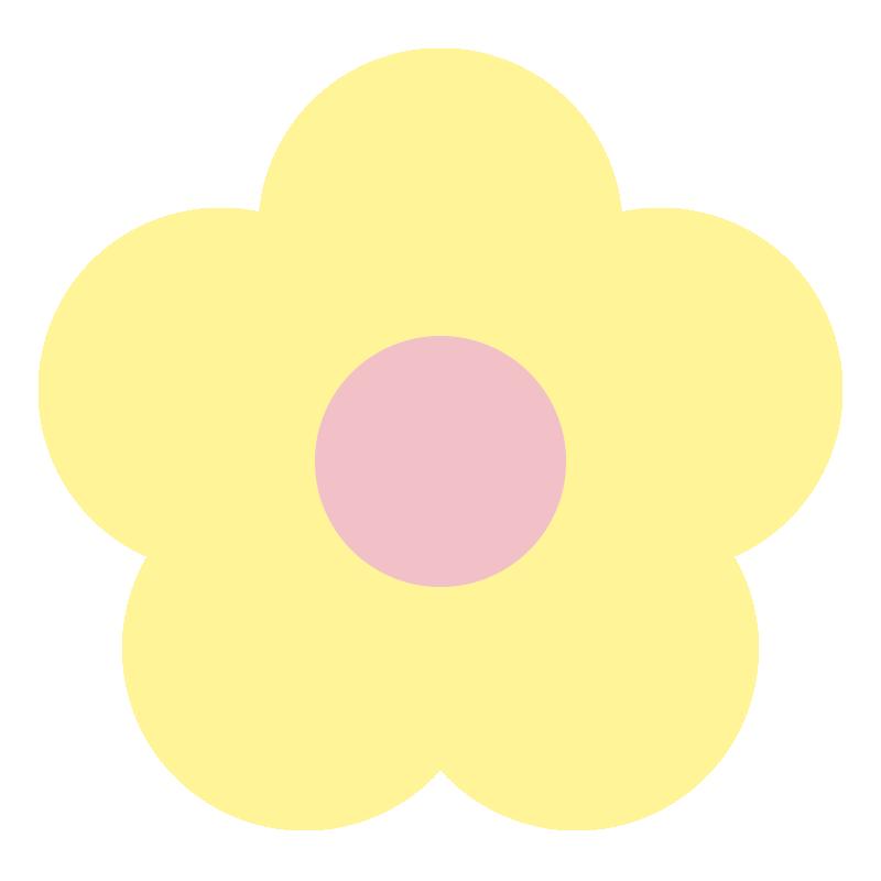 シンプルな黄色い花2