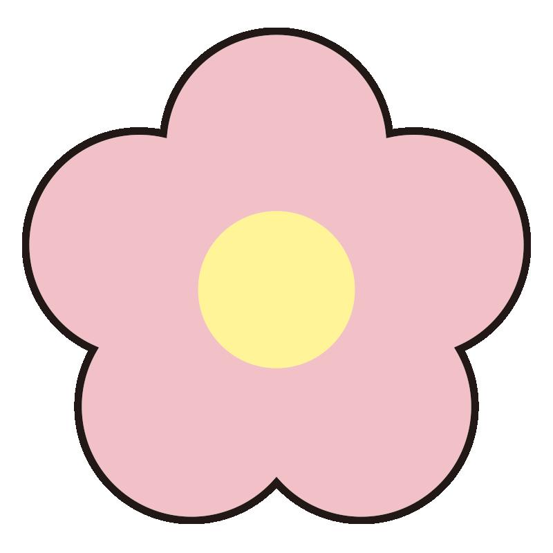 シンプルなピンクの花1