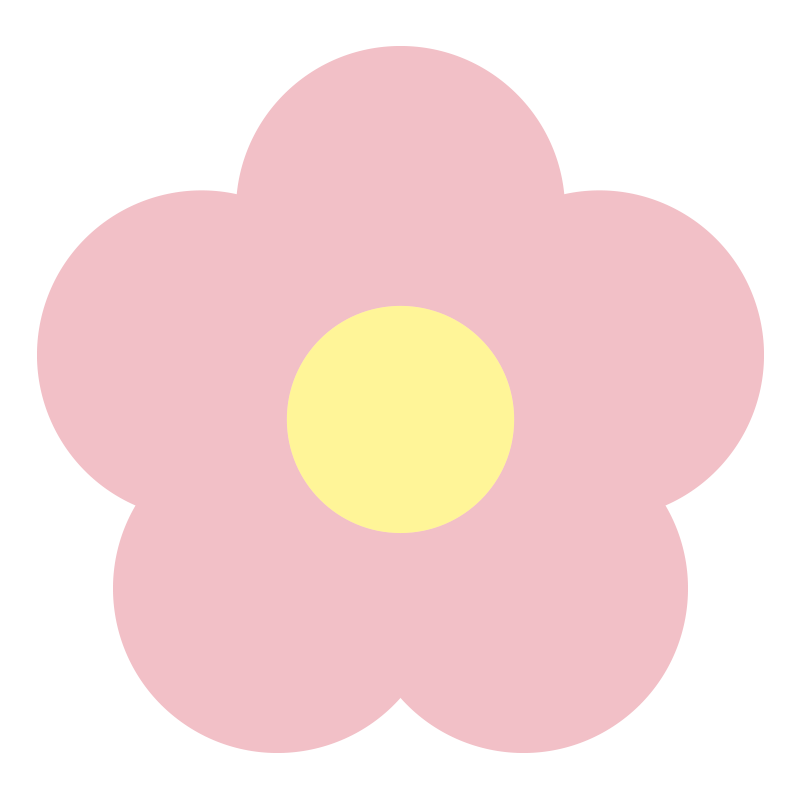 シンプルなピンクの花