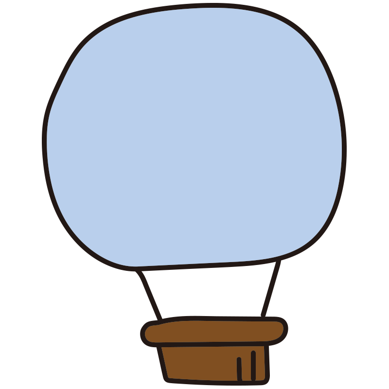 シンプルな青い気球1