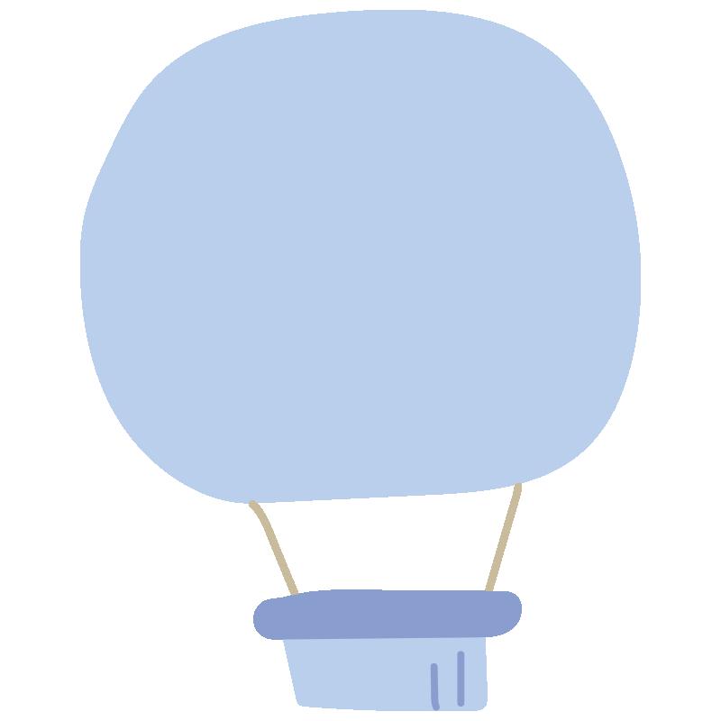 シンプルな青い気球2