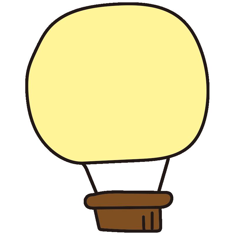 シンプルな黄色い気球1