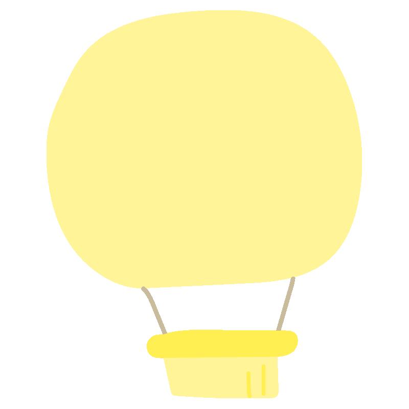シンプルな黄色い気球2