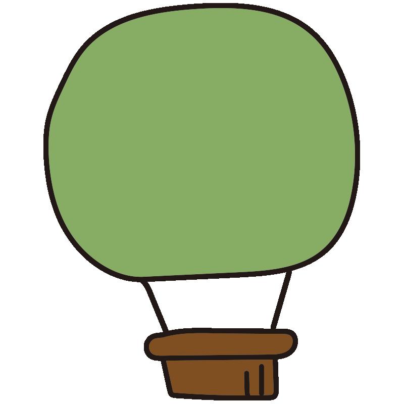 シンプルな緑色の気球1