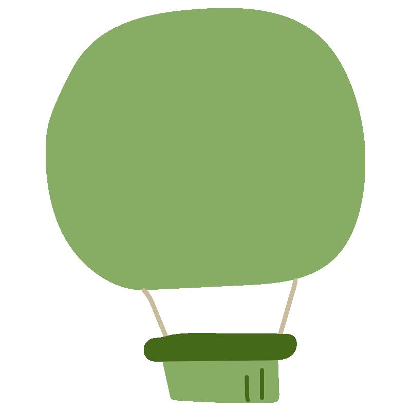 シンプルな緑色の気球2