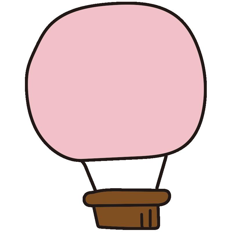 シンプルなピンク色の気球1