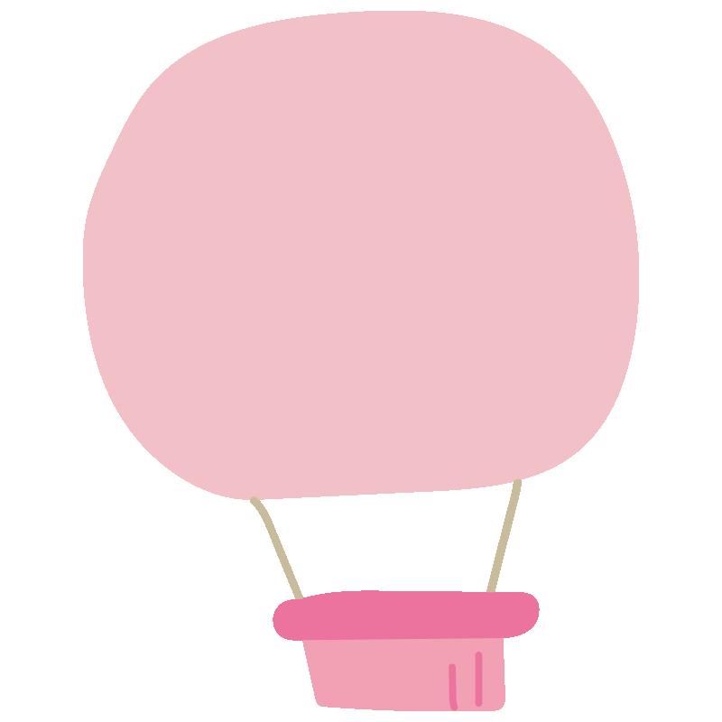 シンプルなピンク色の気球2