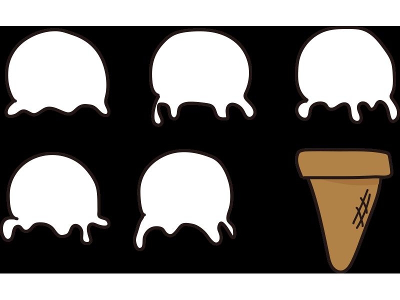 アイスクリームセット(塗り絵)