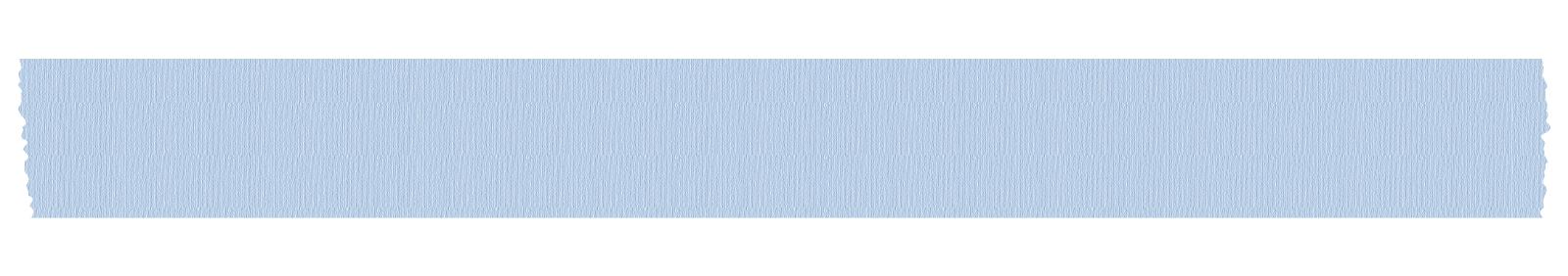 長く切った青いマスキングテープ