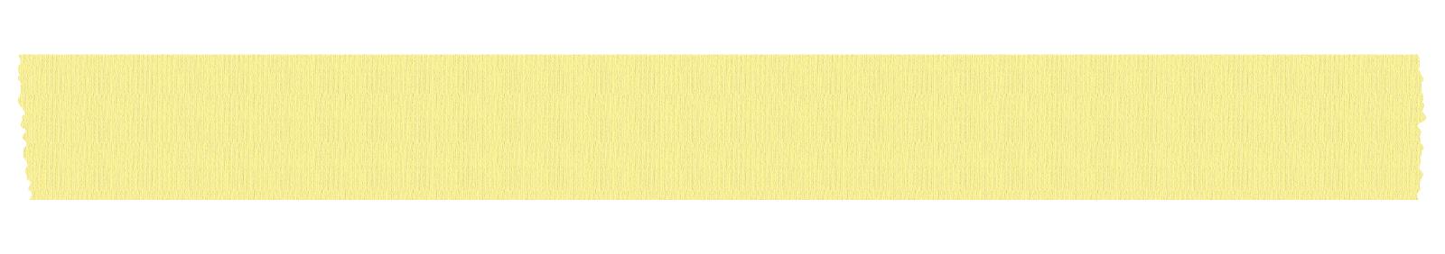 長く切った黄色いマスキングテープ
