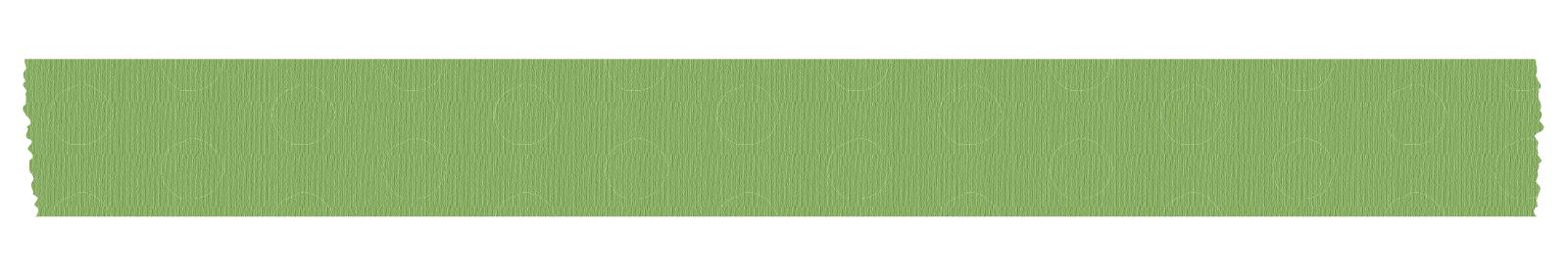 長く切った緑色の水玉のマスキングテープ