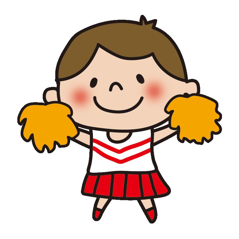 応援するチアガールの女の子1