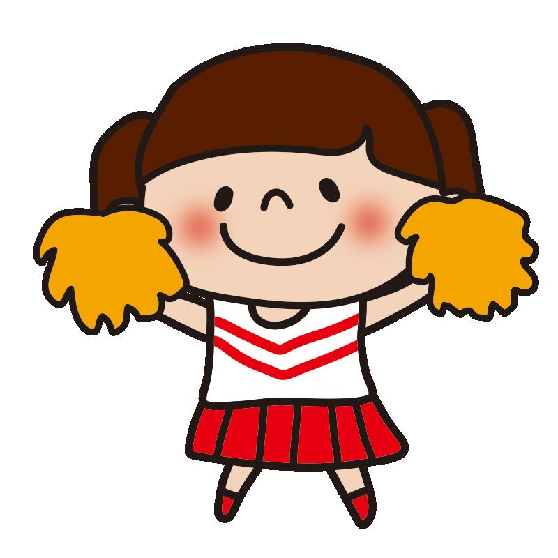 応援するチアガールの女の子2