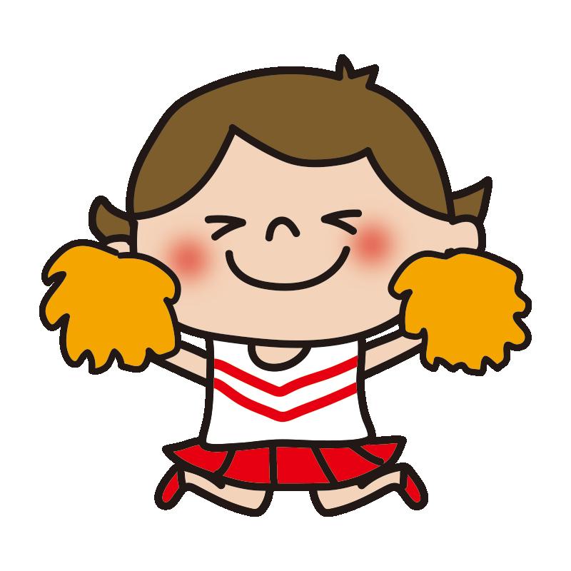 応援するチアリーダーの女の子7