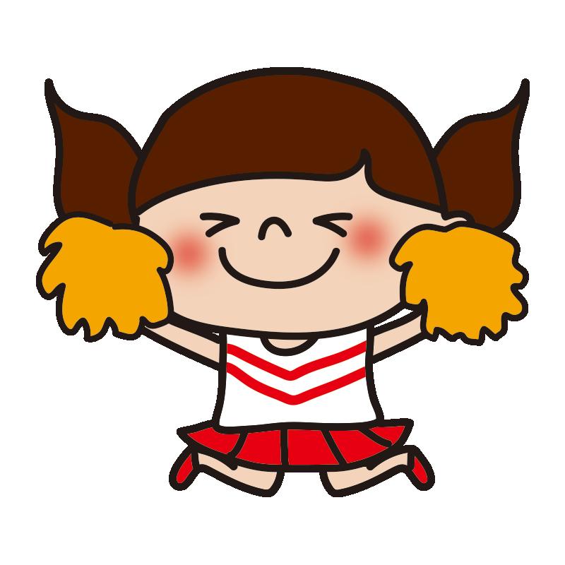 応援するチアリーダーの女の子8