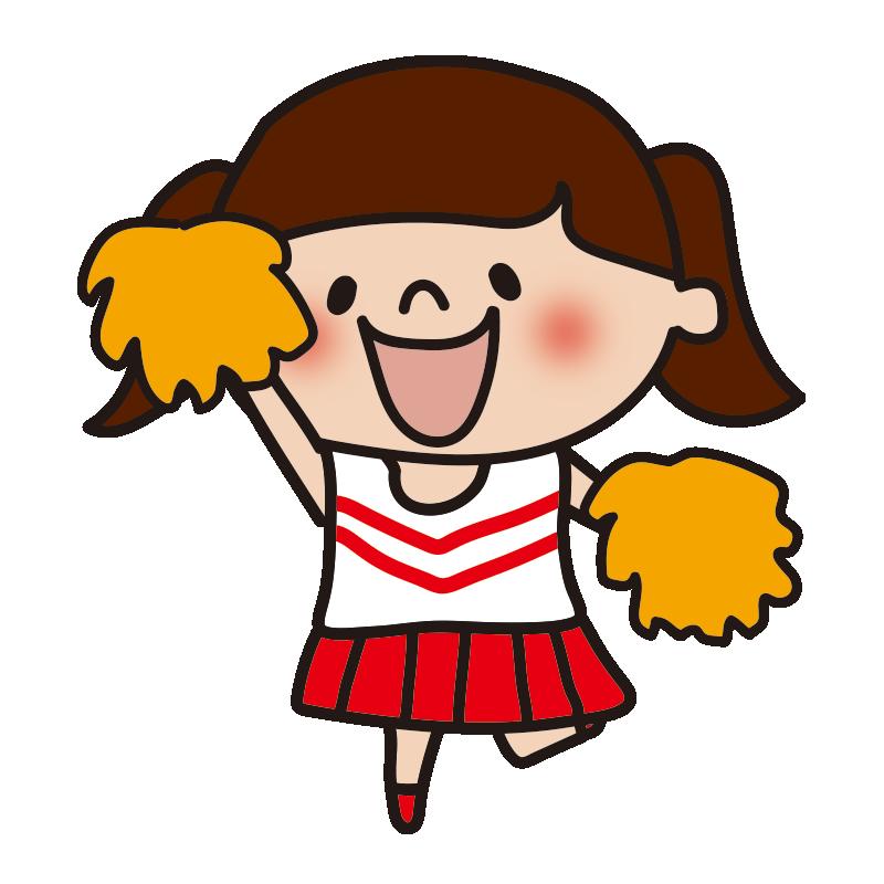 応援するチアリーダーの女の子4
