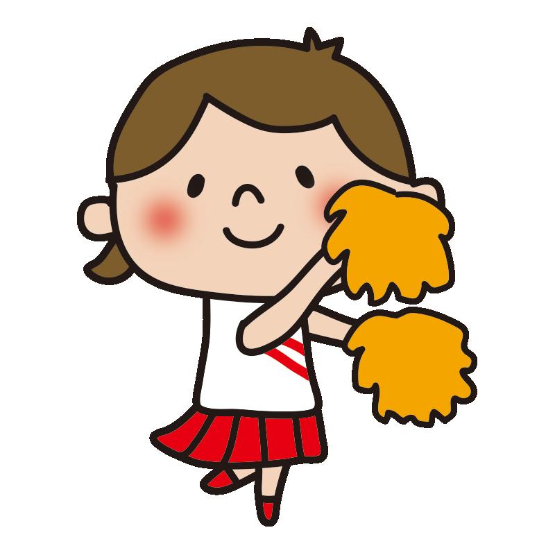 応援するチアリーダーの女の子5
