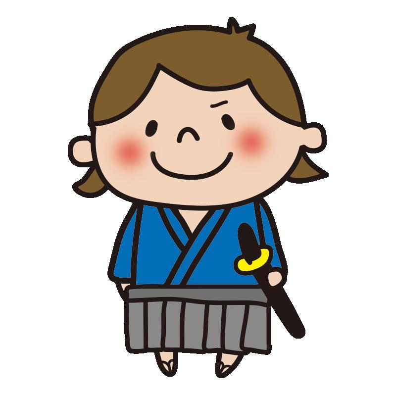 侍の格好をした女の子1