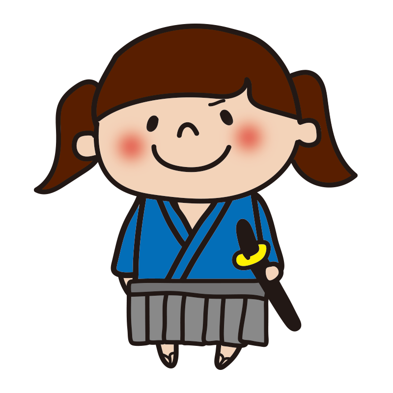 侍の格好をした女の子2