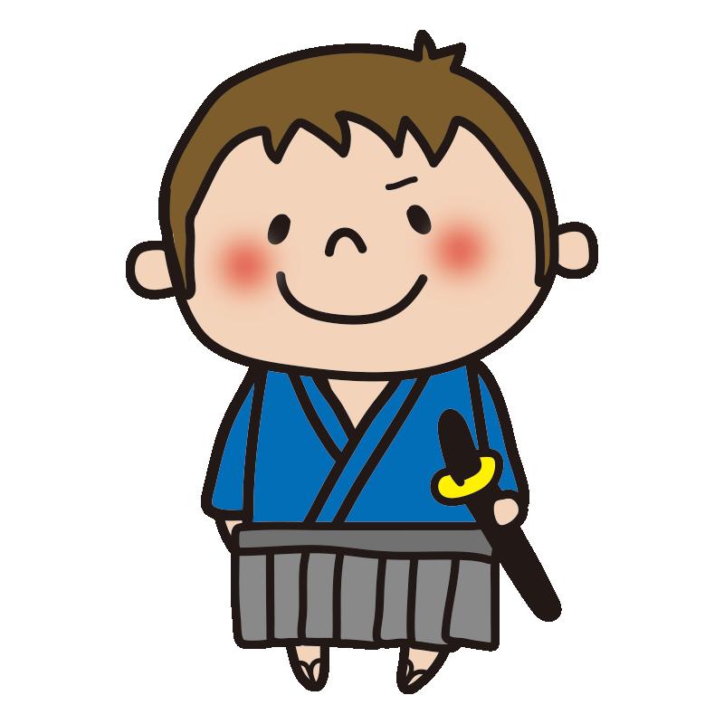 侍の格好をした男の子1