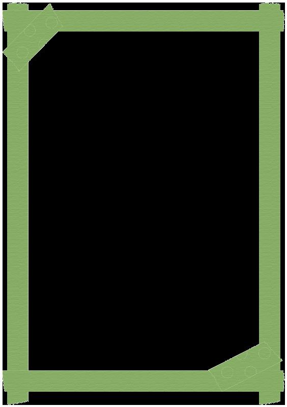 緑色のマスキングテープの枠