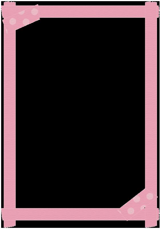 ピンク色のマスキングテープの枠