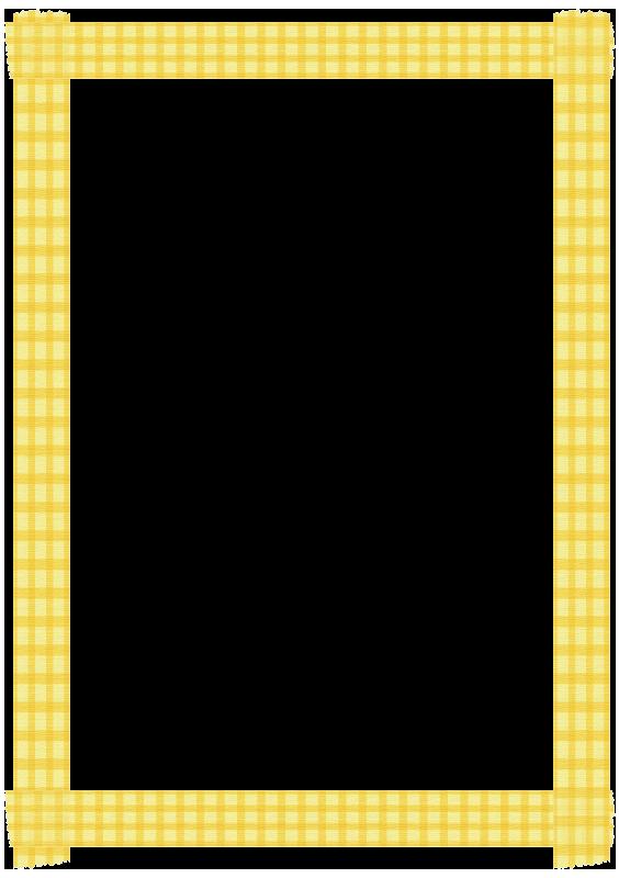 黄色いチェックのマスキングテープの枠