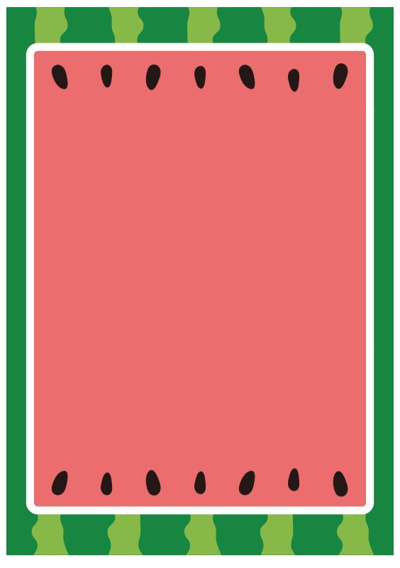 四角いスイカのフレーム
