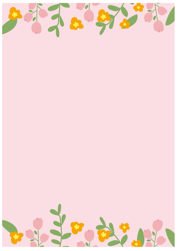 背景がピンクのお花のフレーム
