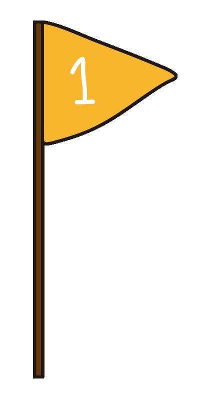 黄色の1位の旗