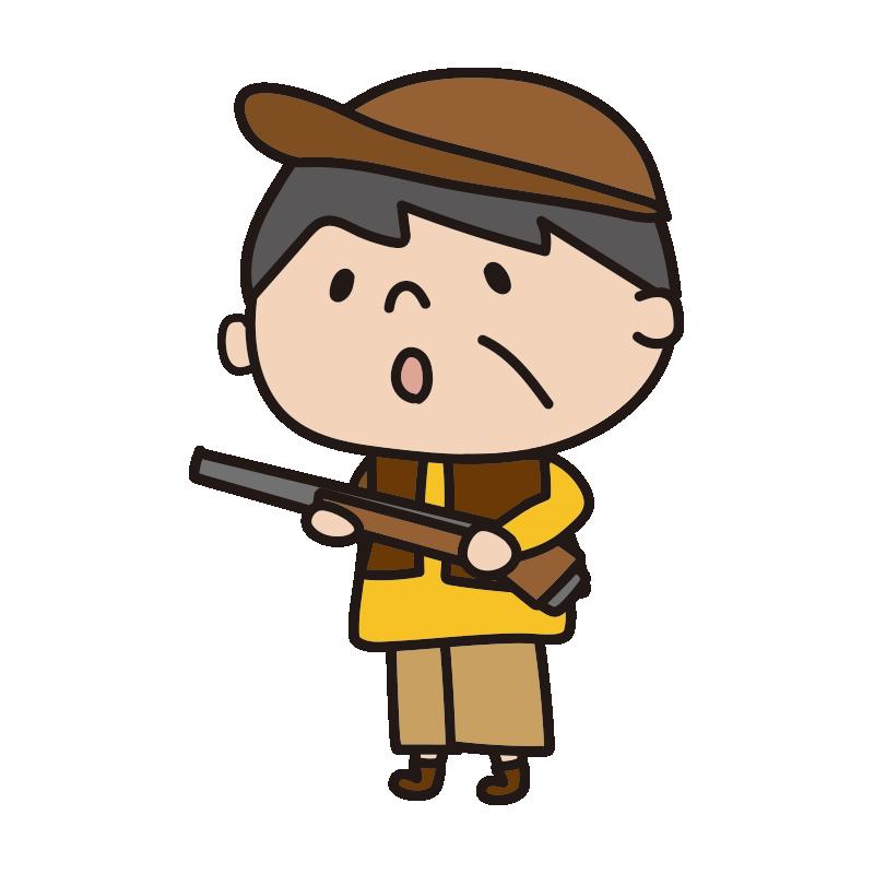 鉄砲を持った狩人