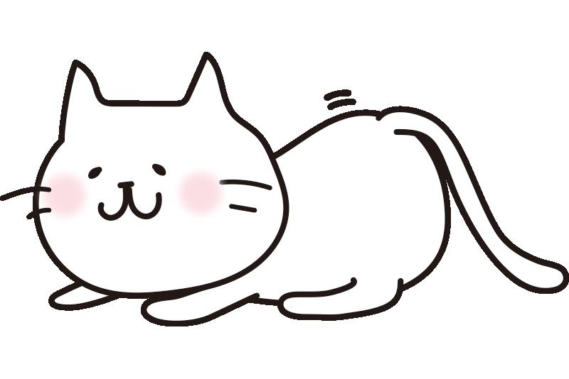 お尻をふりふりして獲物を狙う白い猫