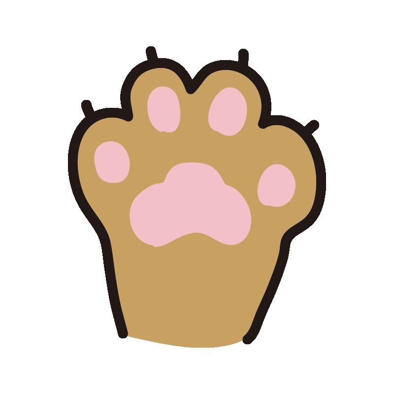 猫の手のパー